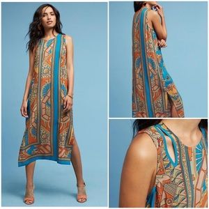 Anthropologie Tanvi Silk Column Dress NWOT 0P New